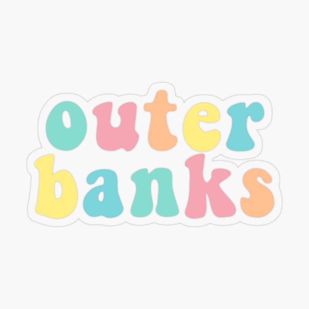'OBX OuterBanks Pastel Summer Vibes' Transparent Sticker by gillys