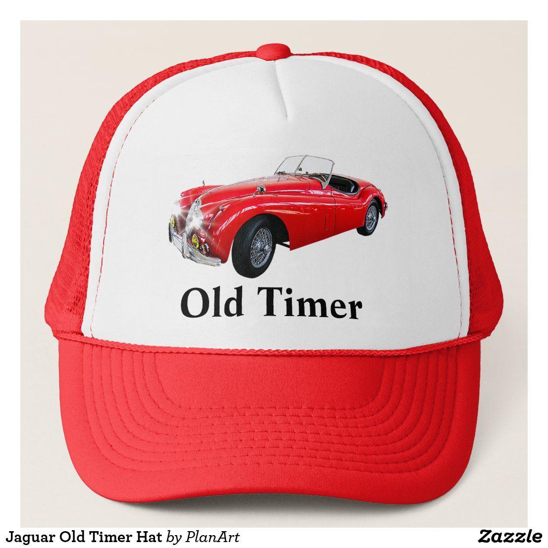 Jaguar Old Timer Hat Zazzle Com Jaguar Classic Cars Cool Sports Cars