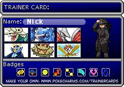 Trainer Card Maker Pokécharms Trainer Card Maker Card Maker Cards