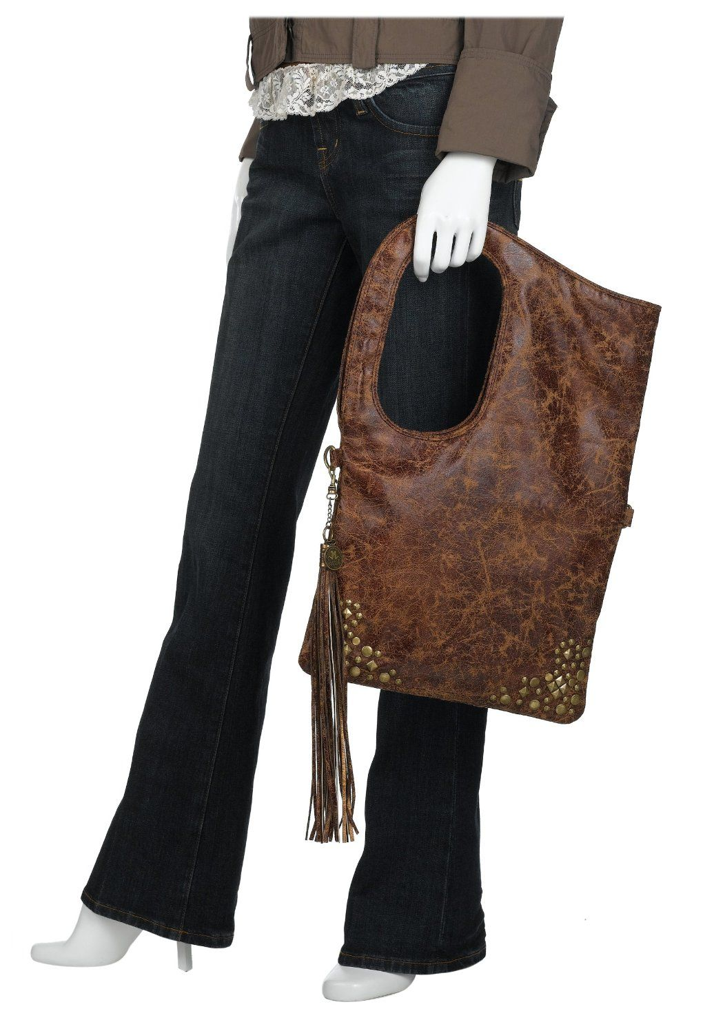 3d0387bf6283 so unique! from the devil wears prada la rue distressed studded shoulder bag