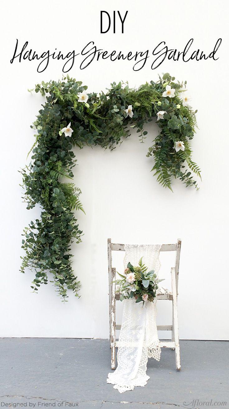 DIY Garland Green is in 2019 Flower garland