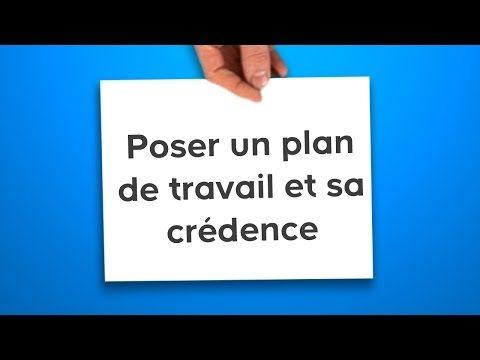 Poser un plan de travail et sa crédence (Castorama) - YouTube