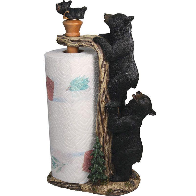 Black Bears Paper Towel Holder
