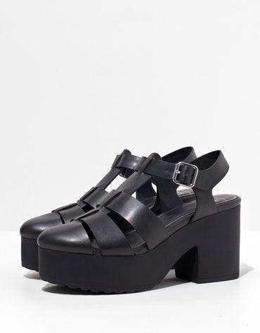 c0ae3eb23229 Bershka platform sandals - Shoes - Bershka Turkey