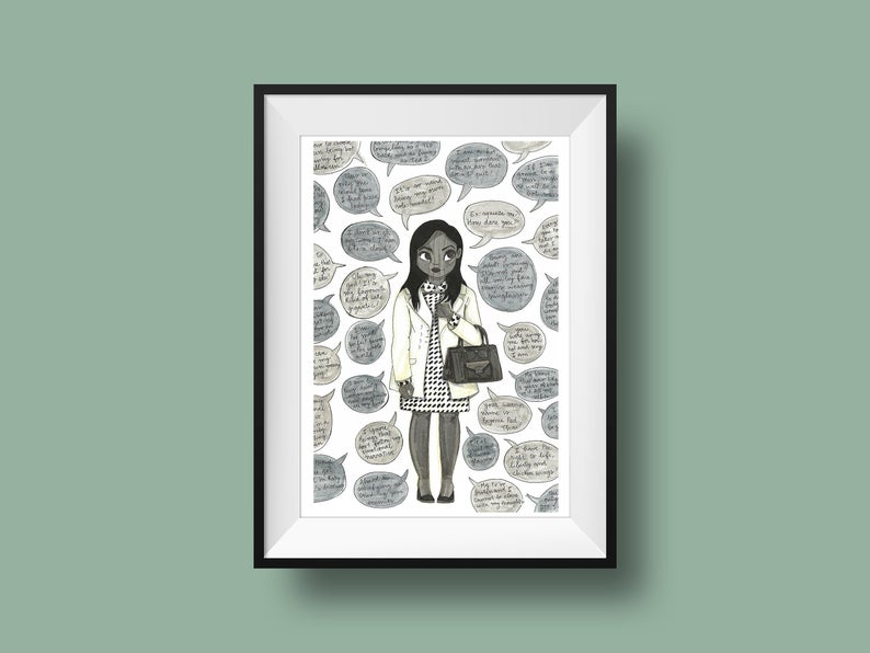 The Mindy Project Print Poster Mindy Lahiri Quotes Illustration Mindy Kaling Quote Gift The Mindy Project Adventure Time Art Poster Prints