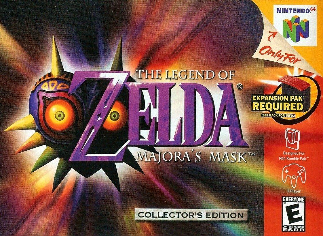 The Legend of Zelda: Majora's Mask-cover game/ melhor jogo n64