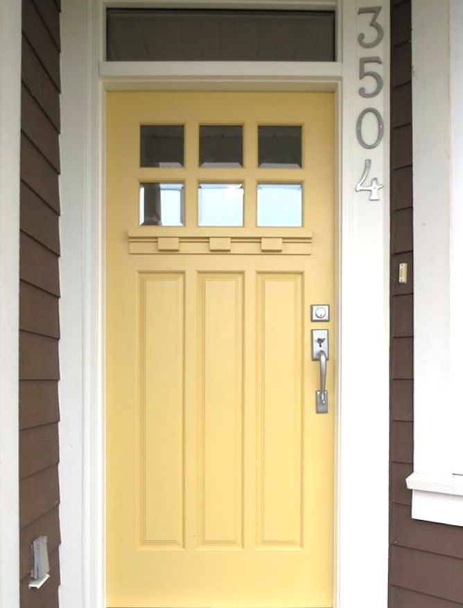 A Deeper Yellow Front Door Color Earth Element Feng Shui