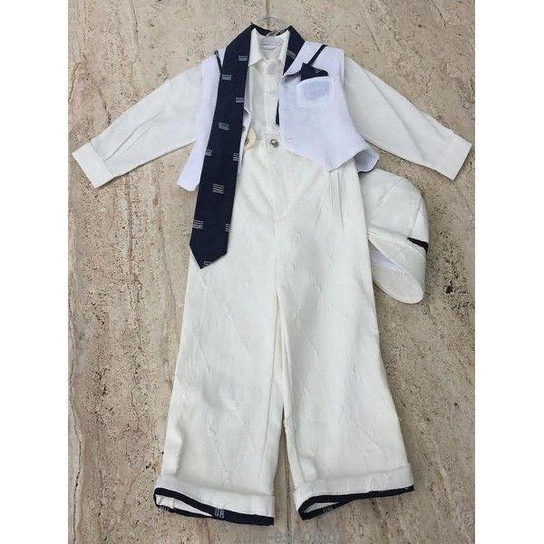 0b89d3fd3b4 Κουστουμάκι βάπτισης Dolce Bambini με μπλε-jean λινό παντελόνι, βαμβακερό  πουκάμισο, γιλέκο, παπιγιόν και καπελάκι… | Κουστουμάκια Βάπτισης  Καλοκαιρινά ...