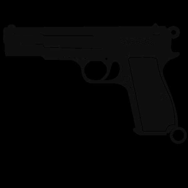 Handgun Monochrome Silhouette Hand Guns Swag Girl Style Monochrome