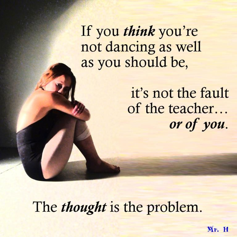 The ballet dancer's thought