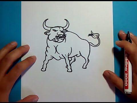 Como dibujar un toro paso a paso 2  How to draw a bull 2