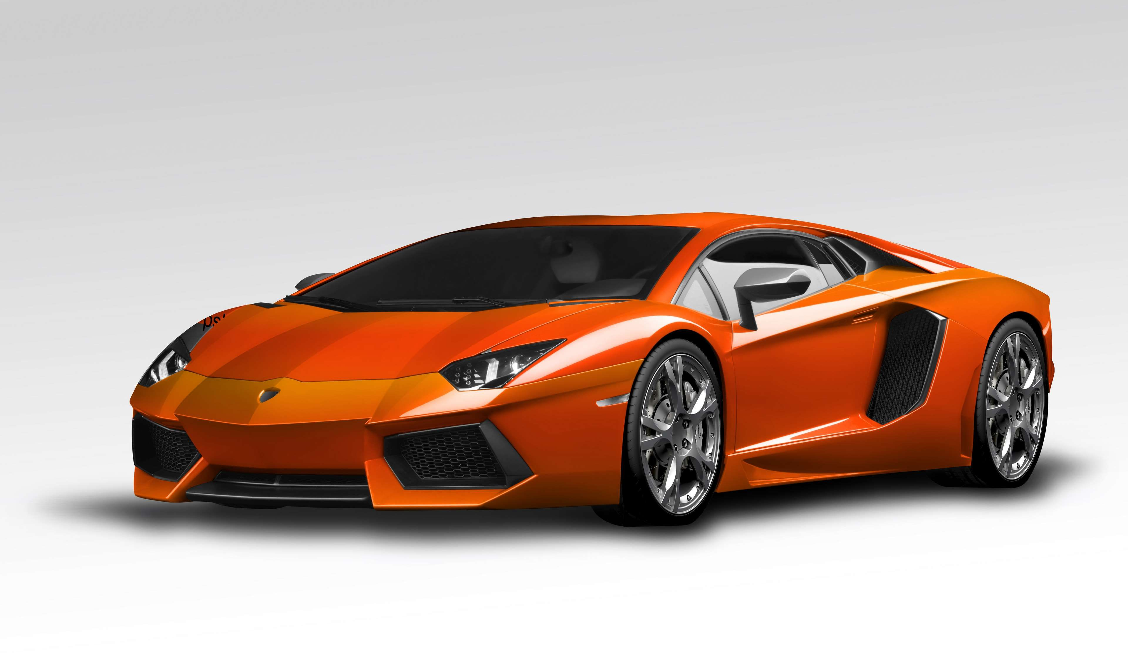 Car Cars Lamborghini Aventador Luxury Car Orange Sport Car 4k
