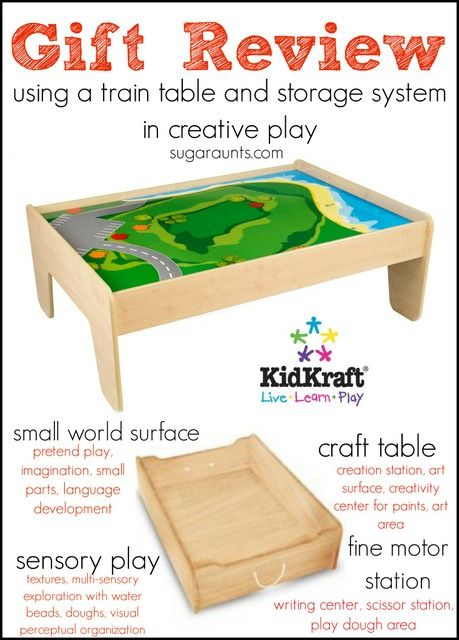 KidKraft Train Table Review Trundle Drawers Gift For Kids