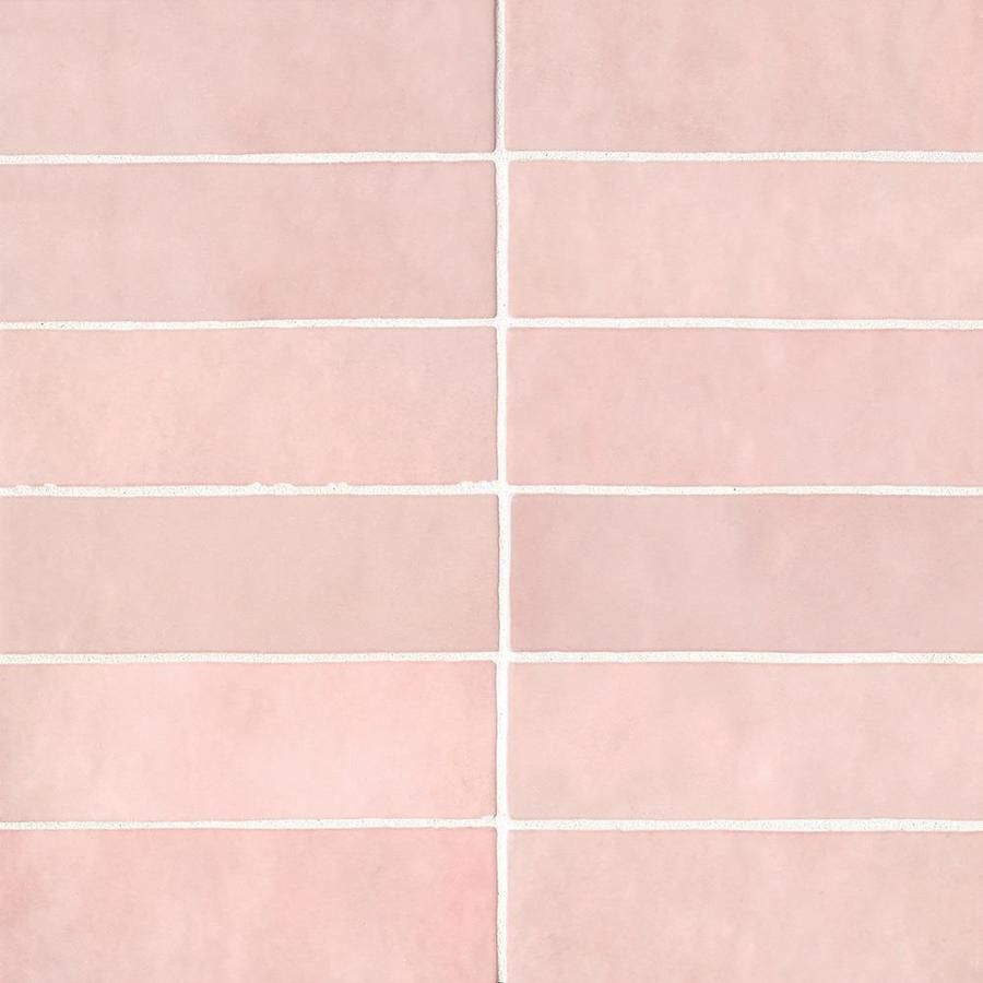Bedrosians Cloe 76 Pack Pink 2 1 2 In X 8 In Glossy Ceramic Subway Wall Tile Lowes Com Ceramic Subway Tile Wall Tiles Subway Tile