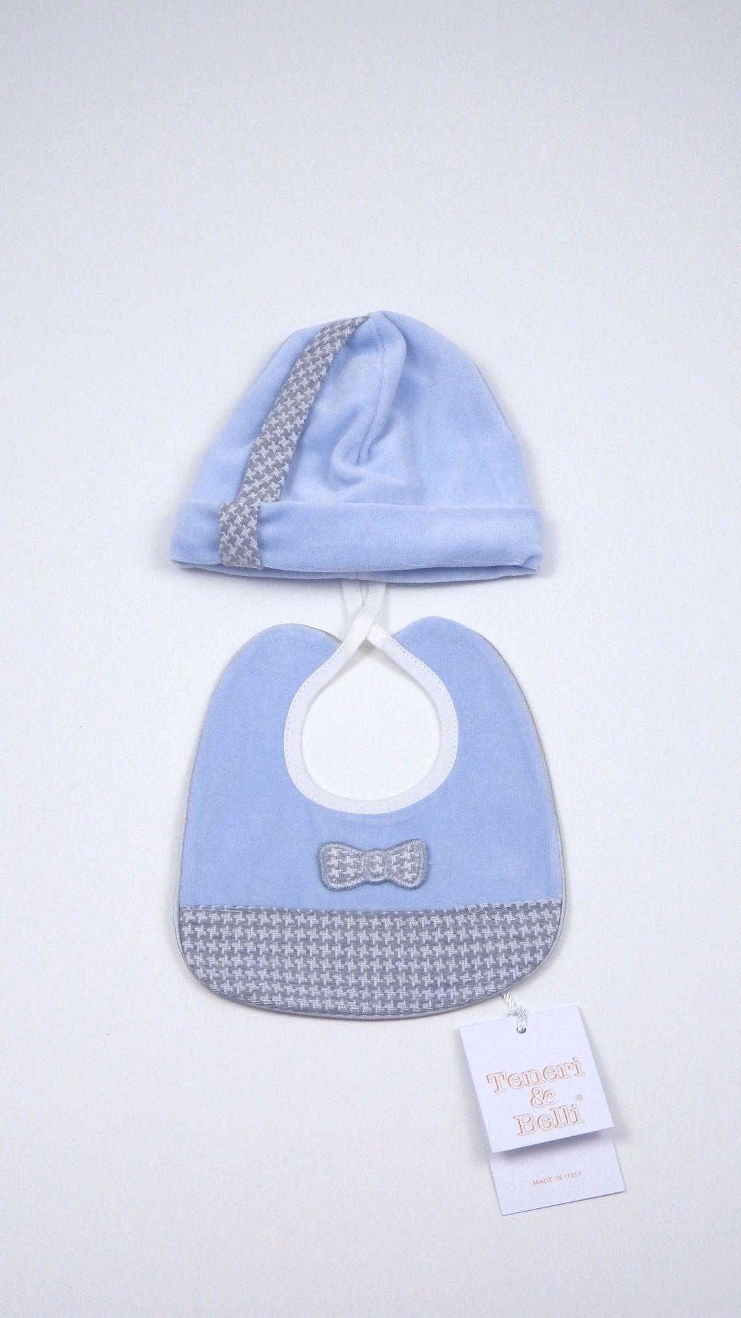 Tutina neonato e completo cappello bavaglino made in Italy TENERI E BELLI