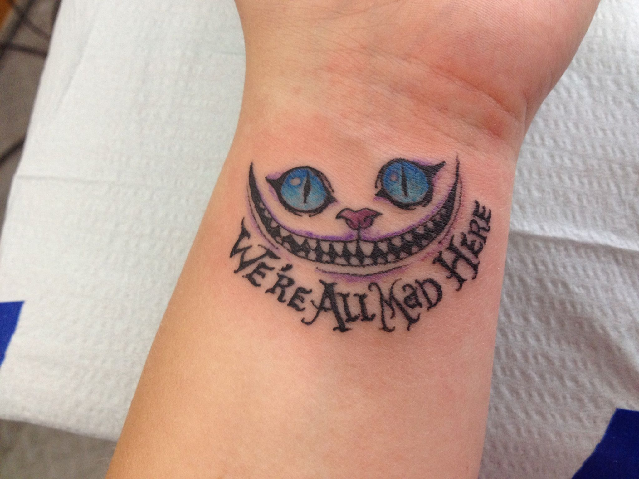 Cheshire cat tattoo tattoos pinterest grinsekatze for Cat asshole tattoo