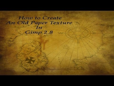 How To Create An Old Paper Texture In Gimp 2 8 Youtube Gimp Tutorial Paper Texture Gimp