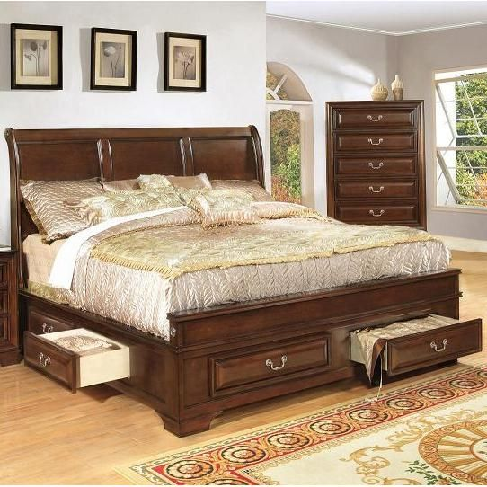 1192 Queen Panel Bed with Storage by Lifestyle Western Bedroom