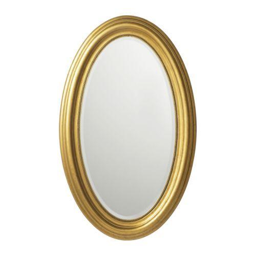 Lighted Wall Mirror, Ikea Gold Mirror