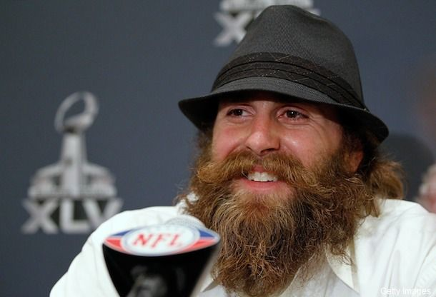Brett Keisel with the beard- without he looks like a kid