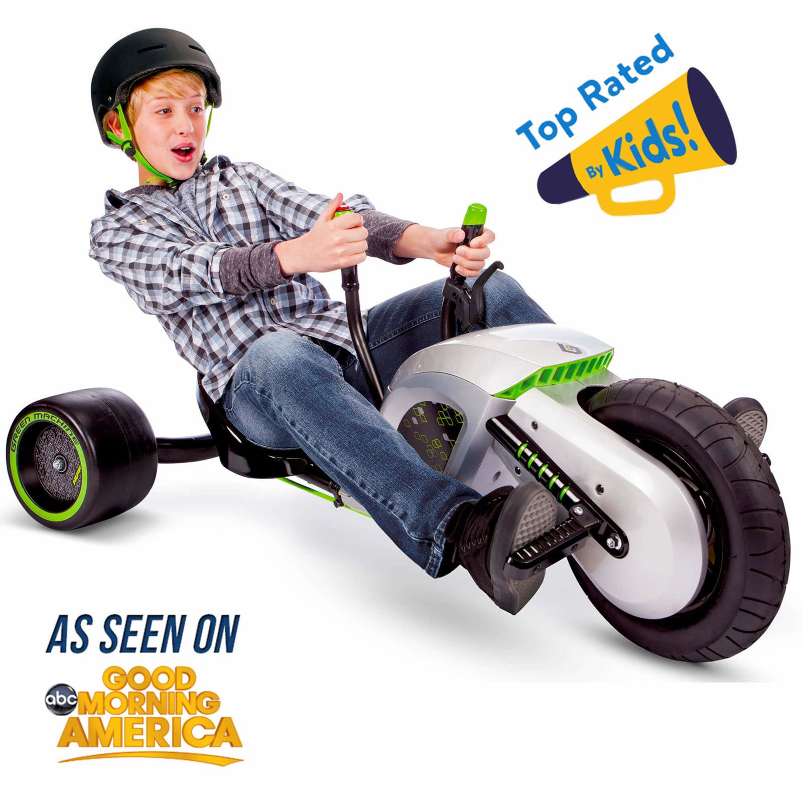 Ride On Trike Riding Kids Toys Electric Green Machine 24