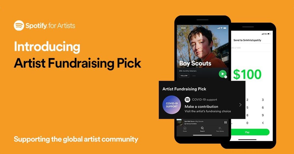 Spotify Is Now Giving Musicians The Ableness To Highlight Their Fundraising Efforts Suggested On Their Dedicated Begetter Land In 2020 Spotify Fundraising Musician