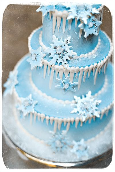 Stupendous An Ice Snow Themed Birthday Cake With Images Winter Cake Birthday Cards Printable Nowaargucafe Filternl