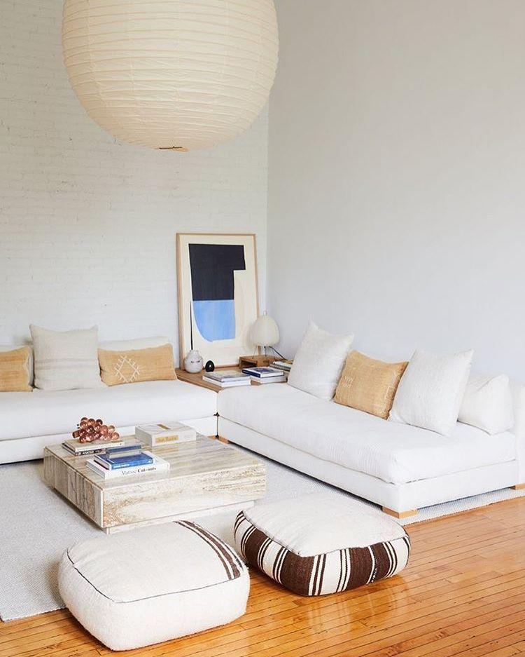 Low White Sofa Lounge Via Pinterest Furniture Design Living Room Living Room Designs Living Room Designs Small Spaces