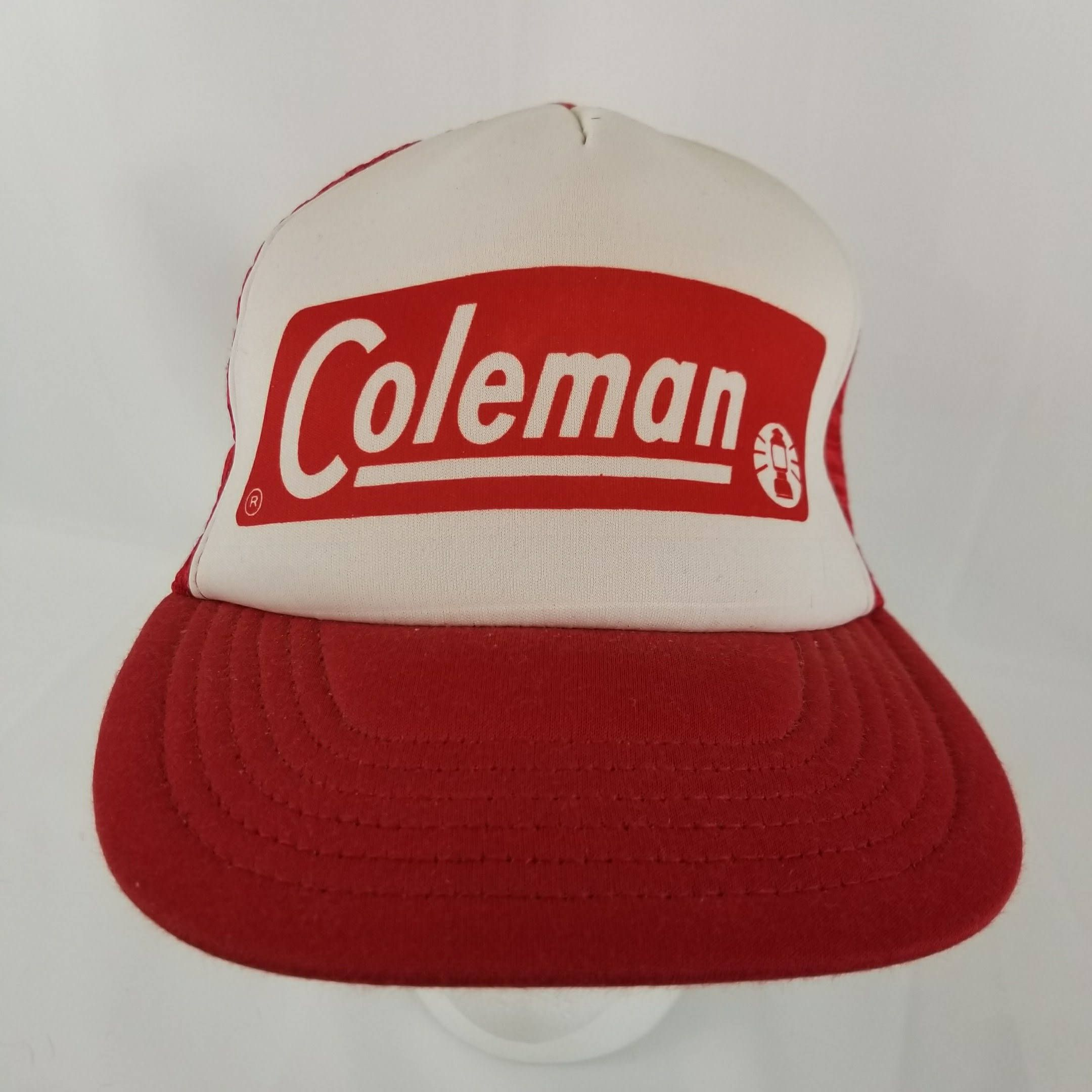 87cf733548b Vintage Coleman Trucker Hat Mesh Snapback Cap Red Outdoors Camp Hiking  Lantern by TraSheeWomen on Etsy  coleman  lantern  vintage  snapback   truckerhat ...