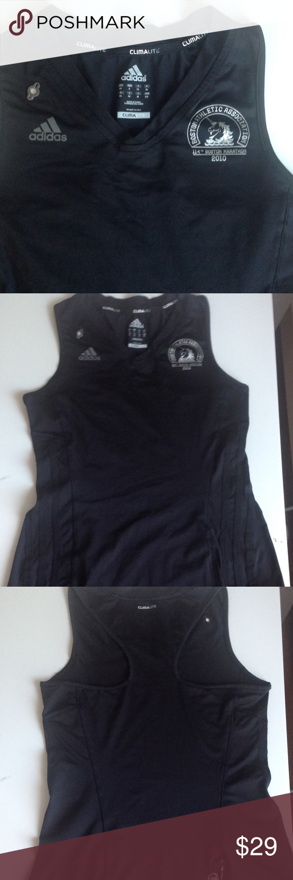 """Sport wear🏋 Like new race back workout top is in mint condition. Arm pit to arm pit is 15"""" and 22"""" long. Has a zipper pocket in the back. Bundle and save!!! adidas Tops Muscle Tees"""
