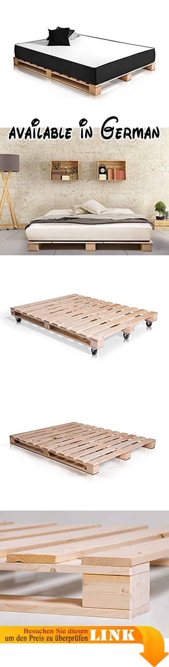 B01I3RBFDW : PALETTI Massivholzbett Holzbett Palettenbett Bett aus ...