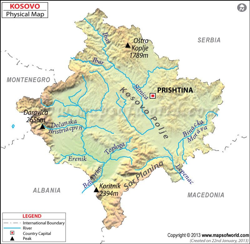 cool Kosovo Map Holidaymapq Pinterest