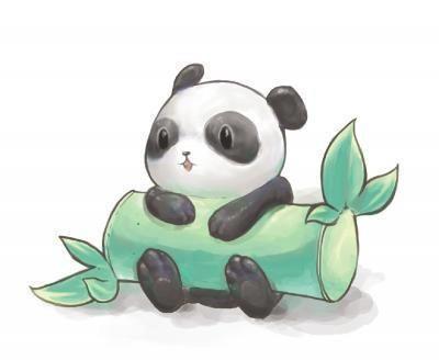 Panda Kawai Avec Bambou Dessin Animaux Mignons Dessins