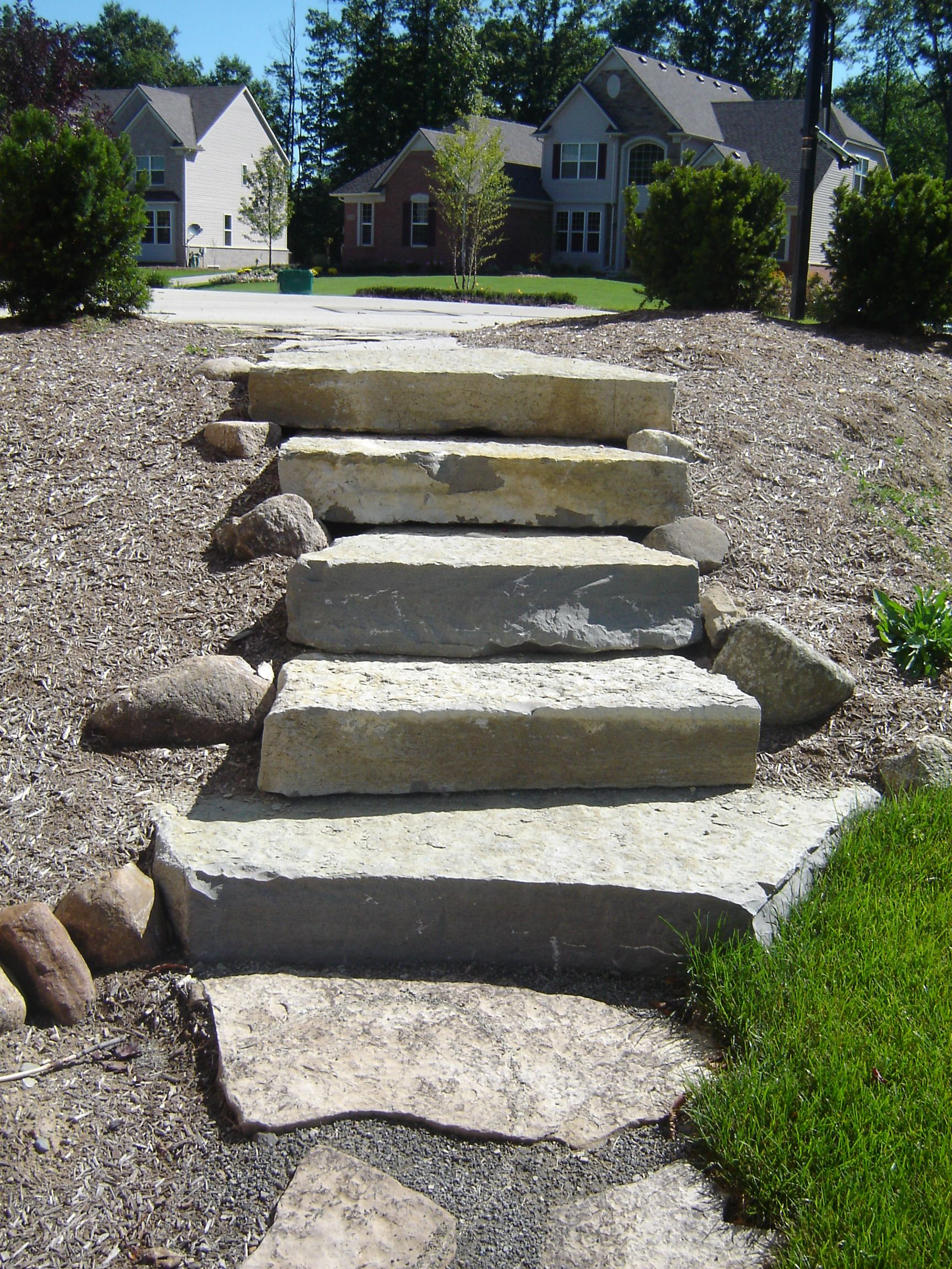 Best Limestone Steps Off Back Off Driveway With Images 400 x 300