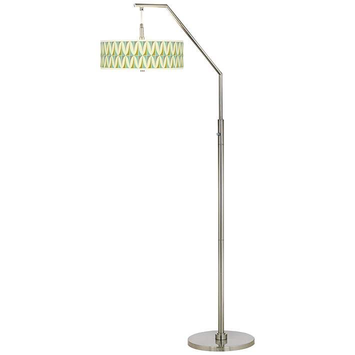 Vernaculis i giclee shade arc floor lamp h5361 7x991 lamps plus