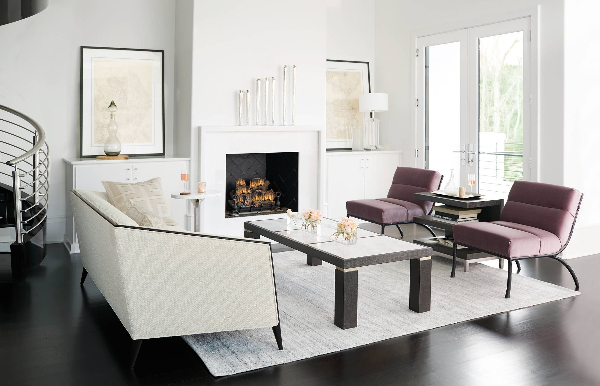Bernhardt Aubree Decorage Isaac Living Room - Bernhardt
