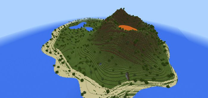 Volcano island custom terrain map for minecraft pe minecraft volcano island custom terrain map for minecraft pe minecraft pe map minecraft and survival gumiabroncs Image collections