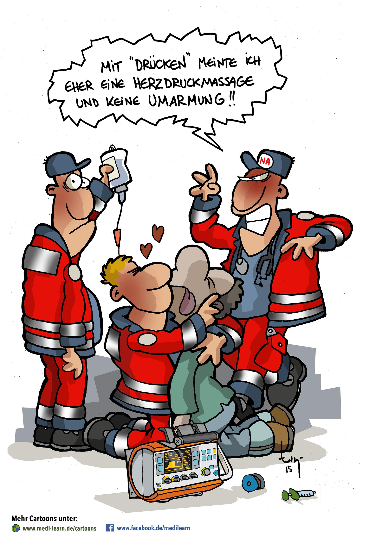 Medilearn Cartoon Valentinstag Valentinesday Comic Illustration