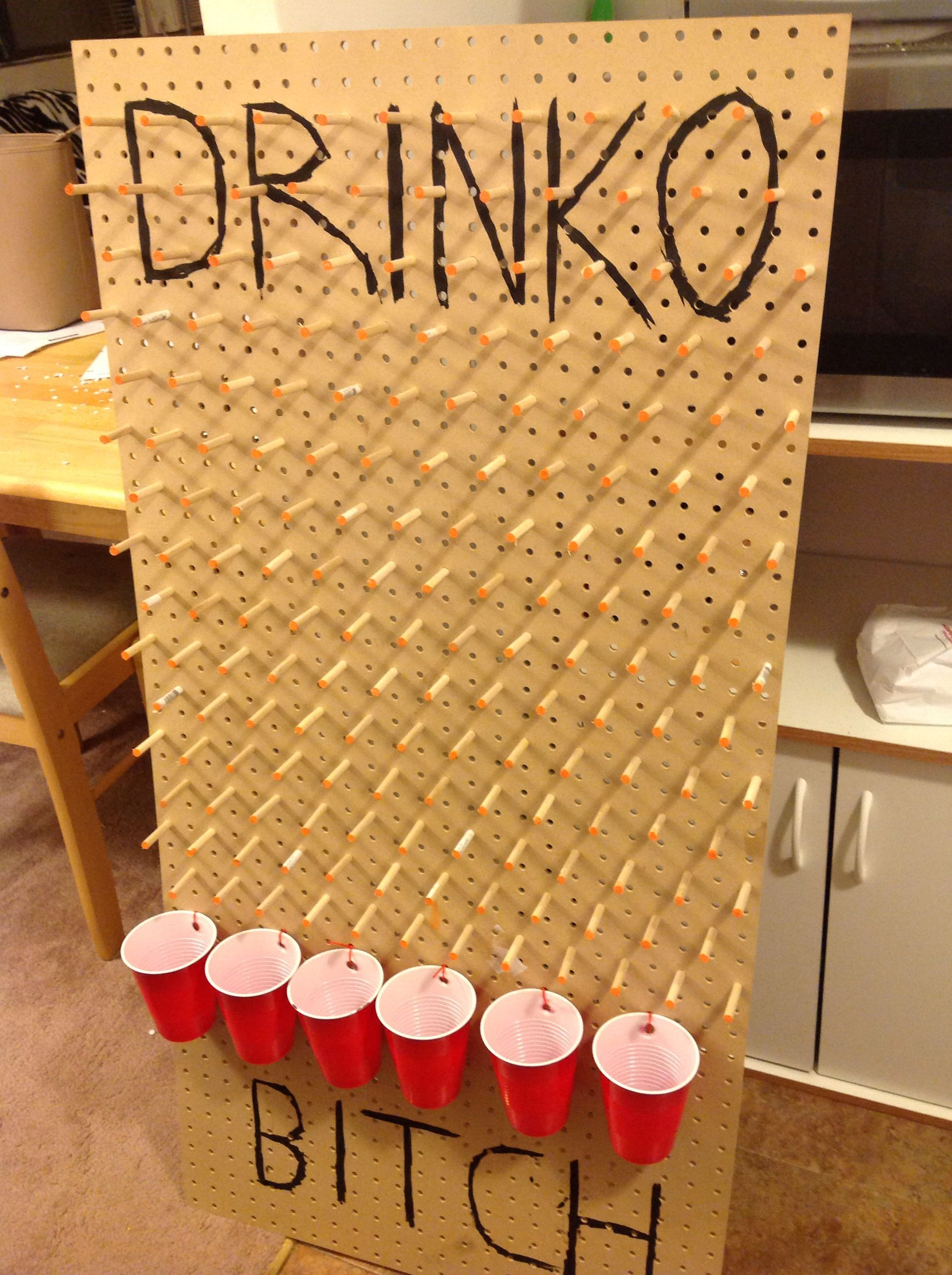 Home made Plinko drinking game. Under $20 #yachtparty ...