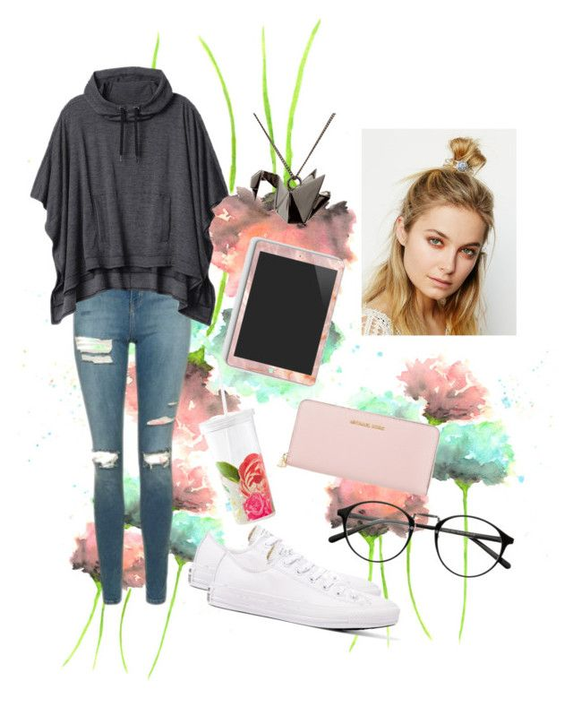 """""""Casual"""" by hannahbeard97 on Polyvore featuring Kate Spade, Topshop, Athleta, Converse, Origami Jewellery, Michael Kors and Free People"""