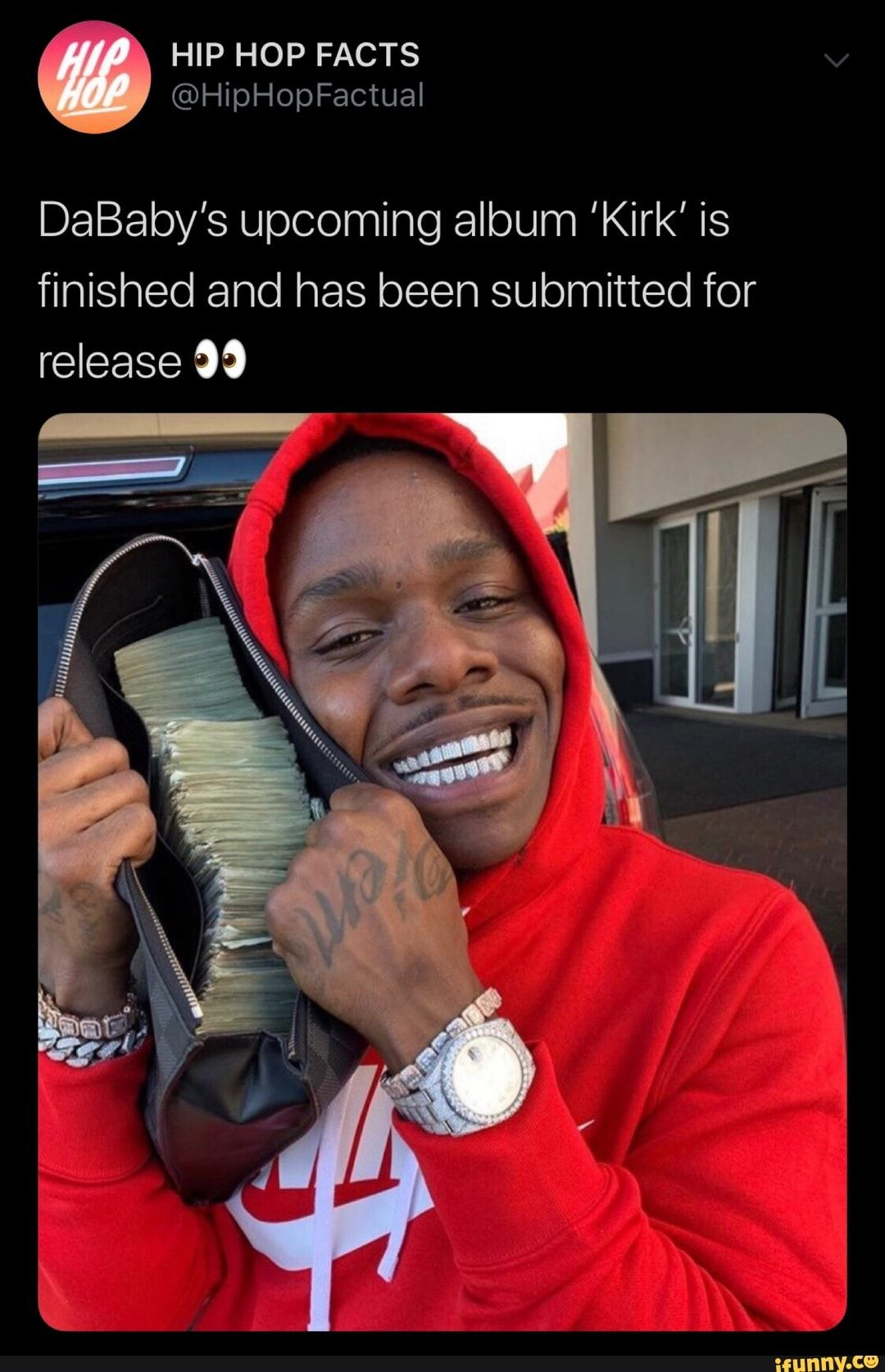 DaBaby's album 'Kirk' is finished and has been