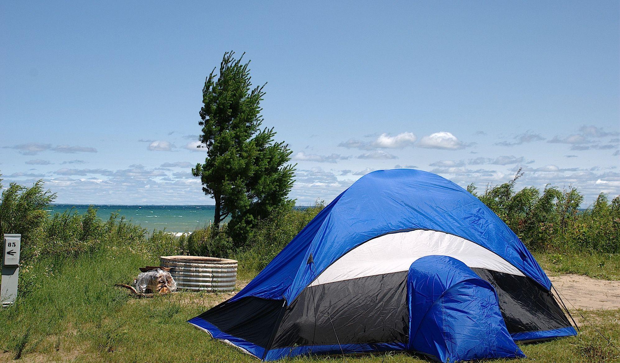 Camping on Lake Michigan in Sleeping Bear Dunes National