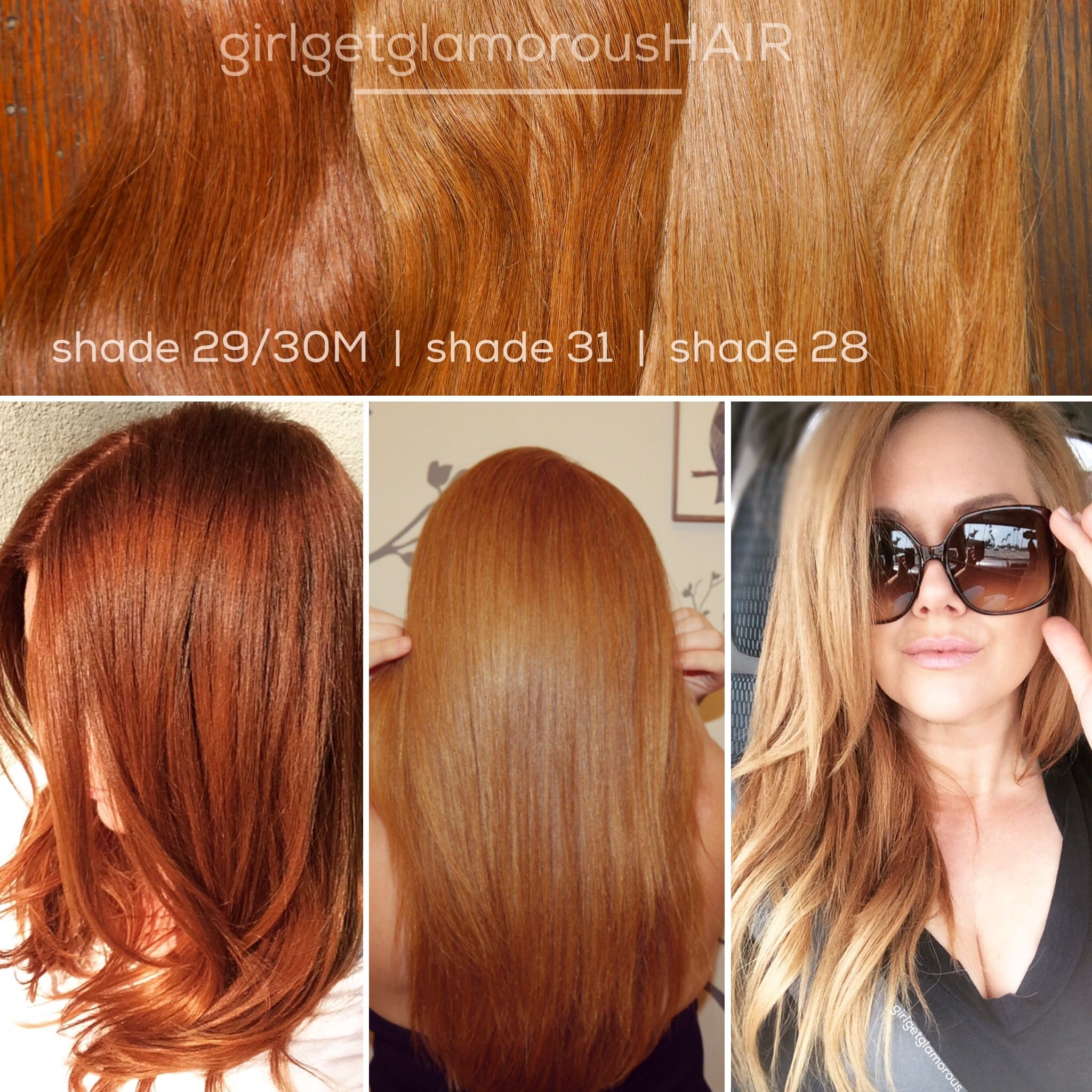 Natural Red Colored Clip In Extensions For Redheads And Strawberry