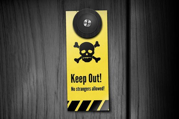 Cool Door Hangers keep out! door hangers   doors, door hanger printing and