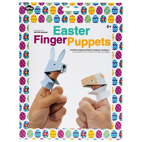 Buy npw easter paper finger puppets kit online at johnlewis shop for easter toys gifts from our gifts range at john lewis negle Choice Image