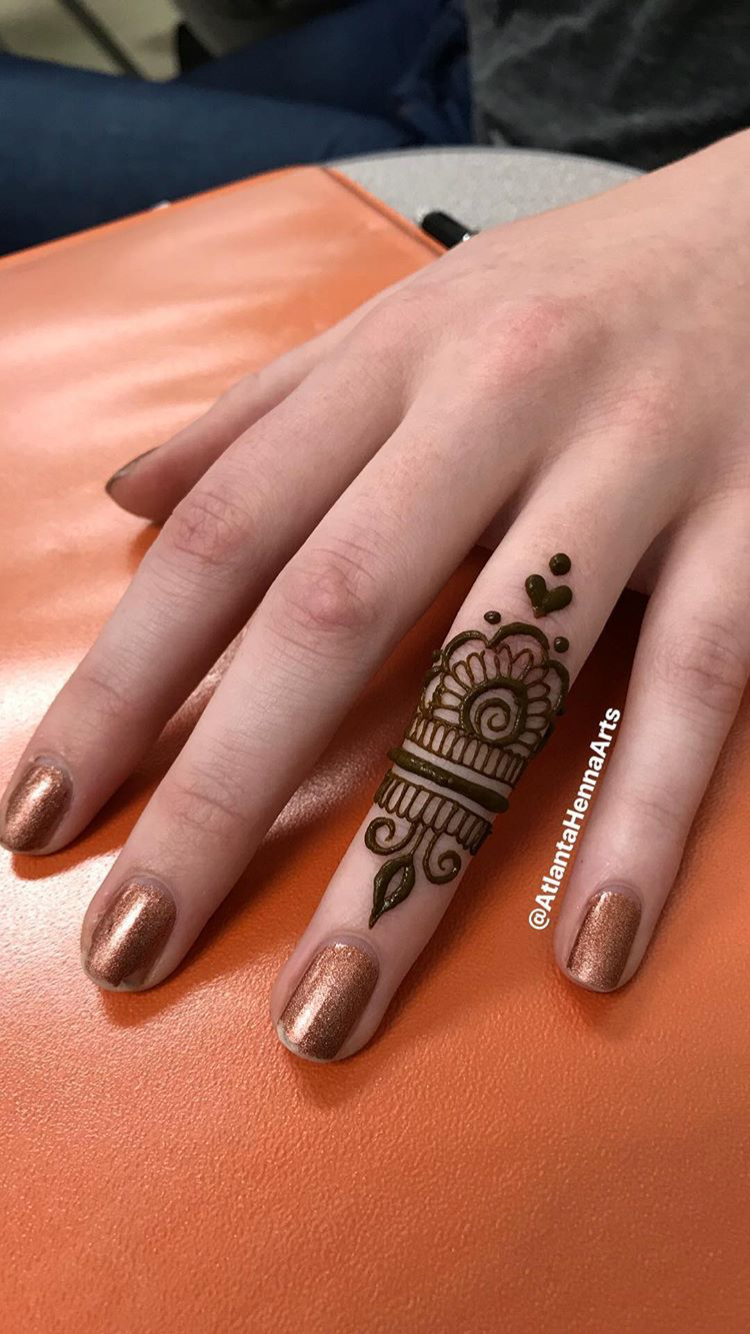 Too cute Finger henna, Mehndi designs for fingers, Small