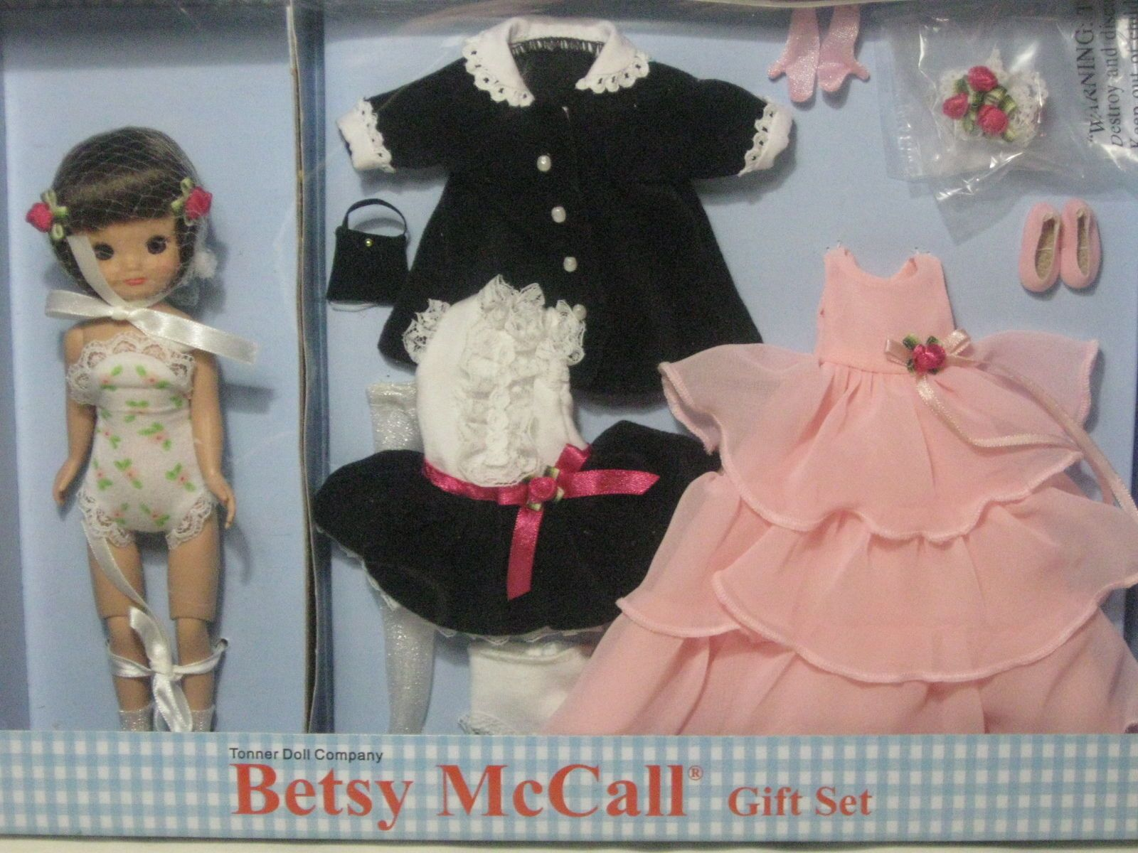 Tonner Tiny Betsy Mccall 8 Doll Formally Yours Betsy Mccall Gift Set Ebay Knitted Dolls Betsy Doll Dress