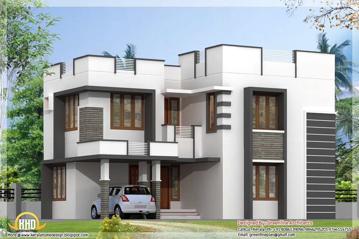 Simple modern home design bedroom architecture house plans Types of house plans
