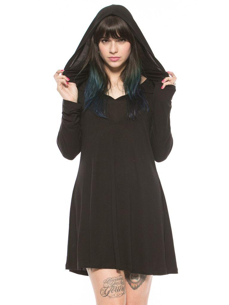 Disturbia Wraith Hooded Dress