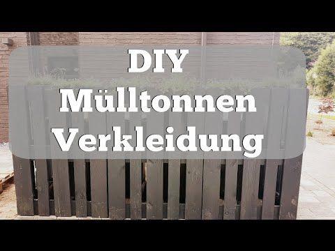 #DIY Mülltonnenverkleidung aus Paletten